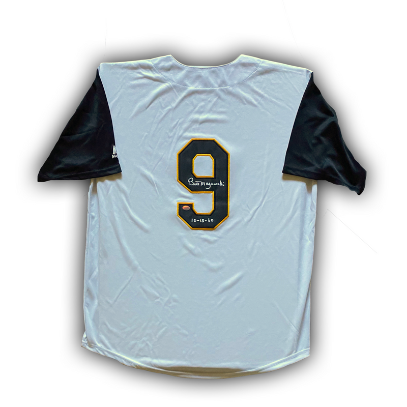 "Bill Mazeroski Signed, Inscribed ""10-13-60"" Pittsburgh Pirates Jersey"