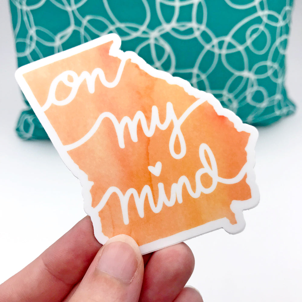 Georgia On My Mind Orange Peach Fun Sticker by Sunny Day Designs