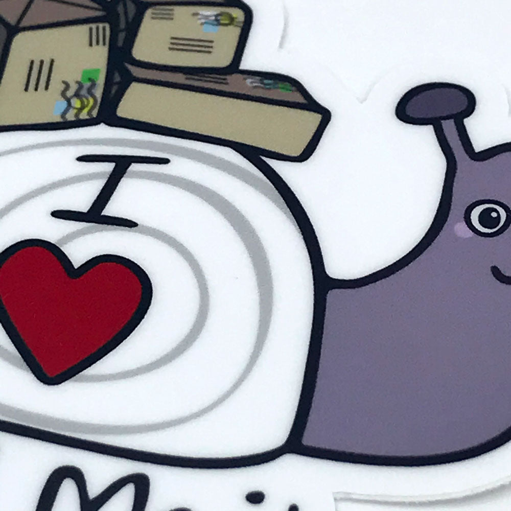 Cute Snail Mail Purple Snail Detail Fun Vinyl Sticker Sunny Day Designs