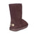 Ladies Chocolate 9-Inch Sheepskin Boot - back