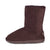 Ladies Chocolate 9-Inch Sheepskin Boot - instep