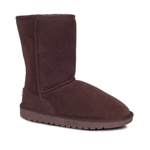 Ladies Sheepskin Boot 9 inch Chocolate - side