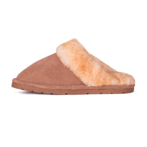 Ladies Sheepskin Scuff Chestnut - instep