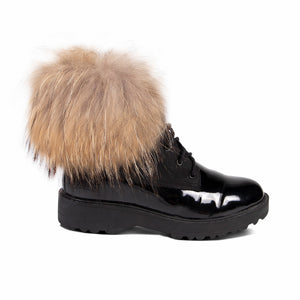 LADIES BROOKE BOOT WITH RACCOON