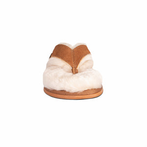 LADIES SHEEPSKIN LINED FLIP FLOPS