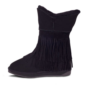 LADIES CLASSIC FRINGED SHEEPSKIN BOOT