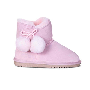 KIDS SHEEPSKIN POM POM BOOT
