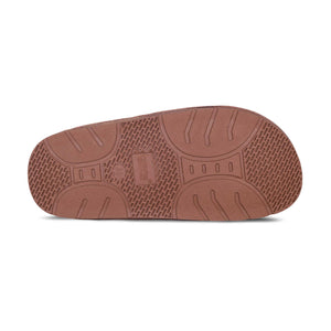 Ladies Sheepskin Scuff Chestnut - sole