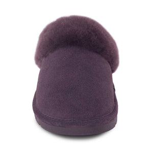 Ladies Sheepskin Scuff Chocolate - front