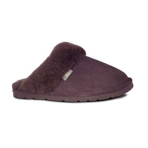 Ladies Sheepskin Scuff Chocolate -side