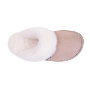 Ladies Sheepskin Scuff Sand - top