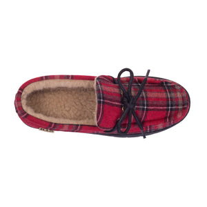 MEN'S PLAID MOCCASIN