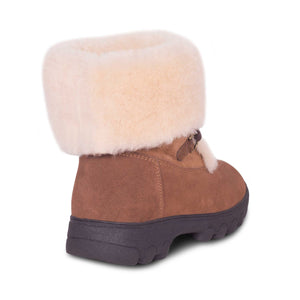Ladies Rosalia Sheepskin Boot - rolled down - back