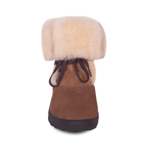 Ladies Rosalia Sheepskin Boot - rolled down - front