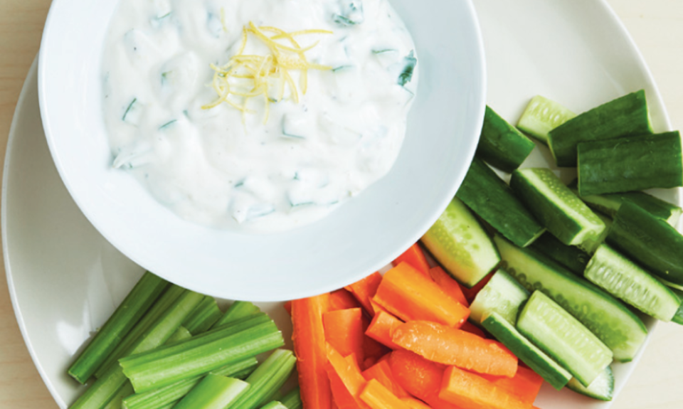 Cucumber and yoghurt dip