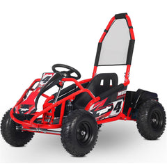 kid electric go kart red