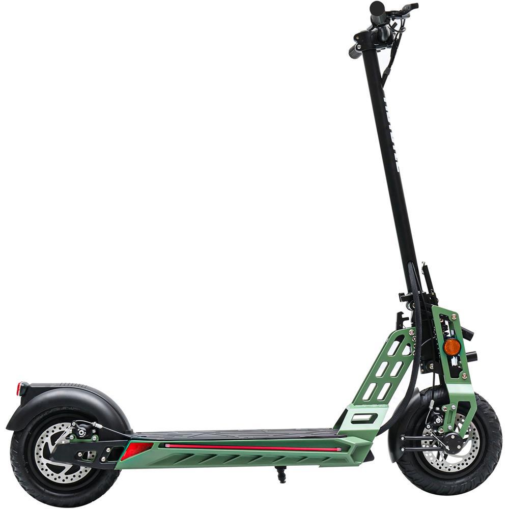 MotoTec Free Ride 600w 48v Lithium Electric Scooter Green