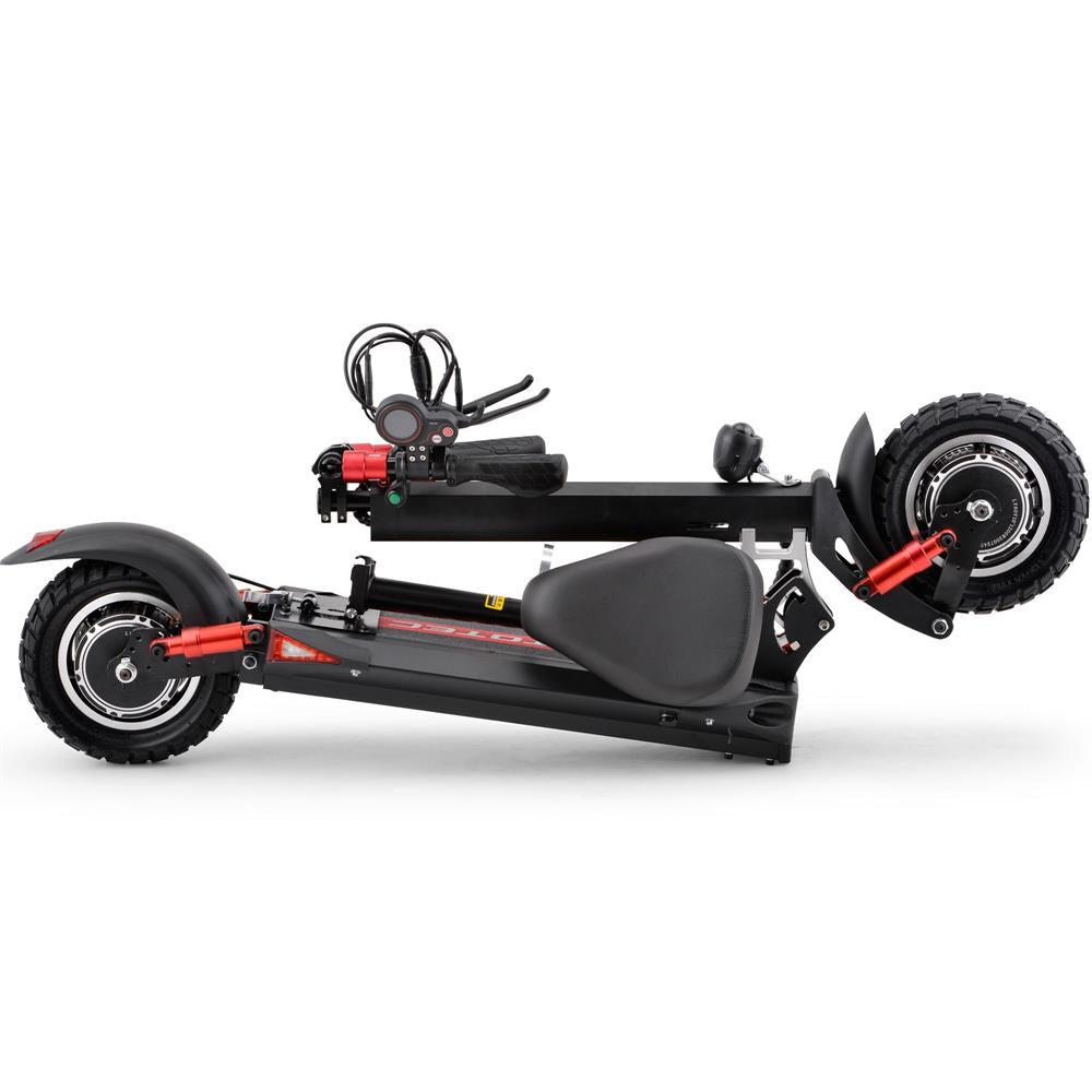 MotoTecThor2400w60vFoldableElectricScooterwithQuickReleaseSeatMT-Thor-2400w_Blackviewfolded