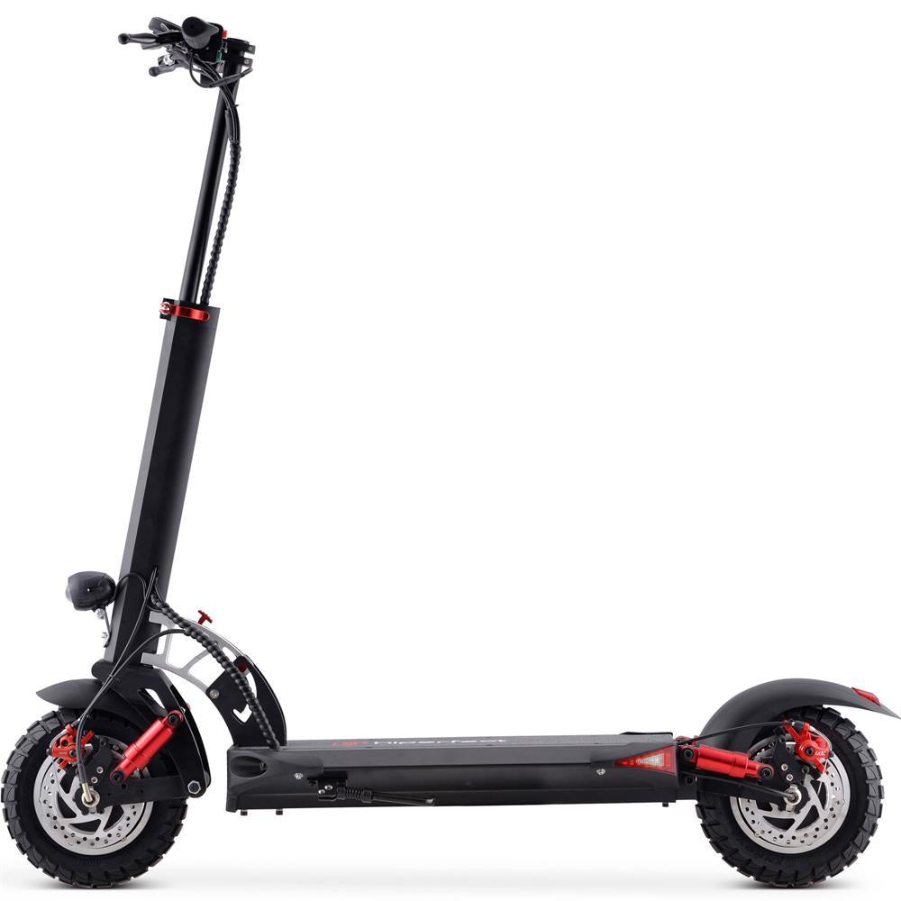 MotoTecThor2400w60vFoldableElectricScooterwithQuickReleaseSeatMT-Thor-2400w_Blackviewlefttoright