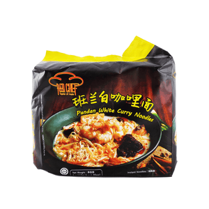Red Chef Pandan White Curry Noodles Family pack (4 single packs) 460g