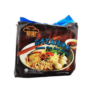 Red Chef Sesame Clear Soup Noodles Family pack (4 single packs) 360g