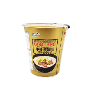 Paldo Gomtang Beef & Vegetable Flavor 1 Case (6 cups) 13.74oz
