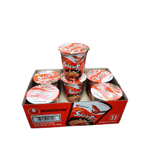 NongShim Noodle Cup, Spicy Shrimp, 1 Case (6 cups), 14.1oz