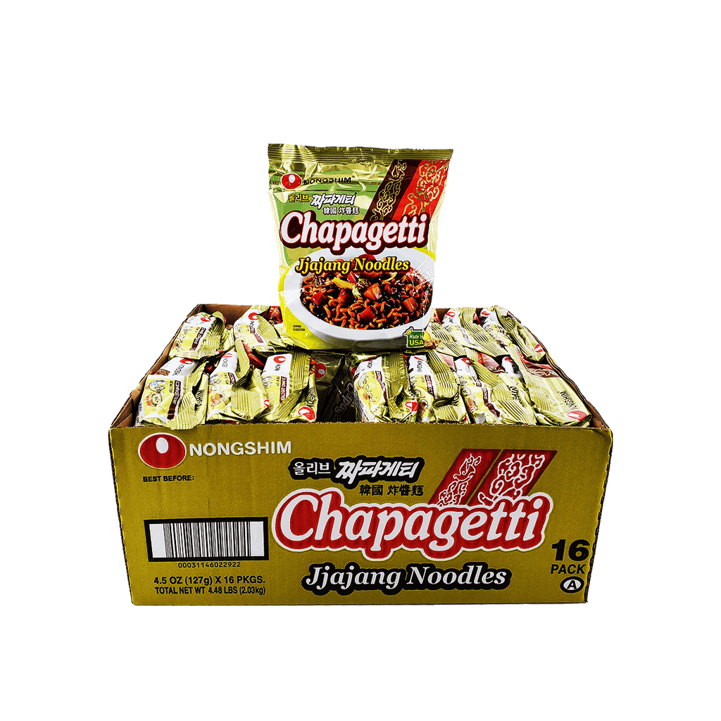 Nongshim Chapagetti 1 Case (16 single packs), 4.48Lbs