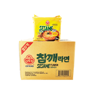 Ottogi Sesame Flavor Ramen, 1 Case (8 family packs), 4.6kg
