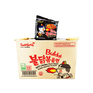 Samyang Buldak (Hot Spicy Chicken) Ramen, 1 Case (8 family packs), 197.6oz