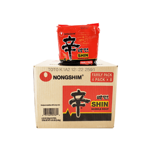 Nonghim Shin Noodle Soup 1 Case (8 family packs) 8.46Lbs
