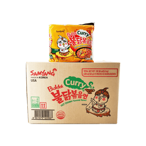 Samyang Buldak Curry 1 Case (8 family packs) 197.6oz