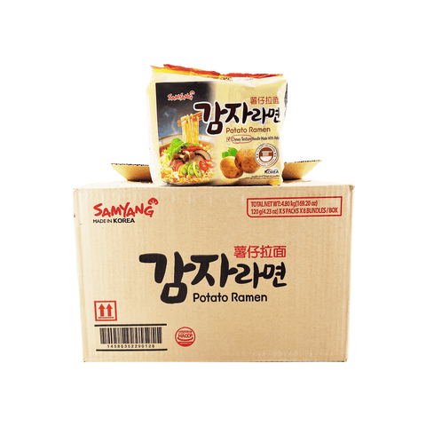 Samyang Potato Ramen 1 case (8 family packs) 169.20oz