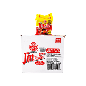 Ottogi Jin Ramen Spicy Flavour 1 Case (8 family packs) 135.36oz