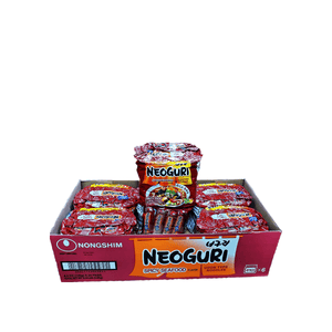 Nongshim Neoguri Spicy Seafood 1 Case (6 family packs) 6.34Lbs