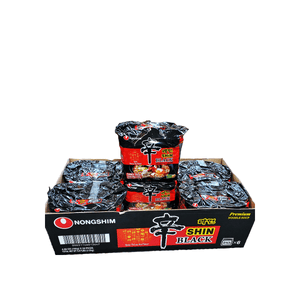 Nongshim Shin Black, 1 Case (6 family packs), 6.84Lbs