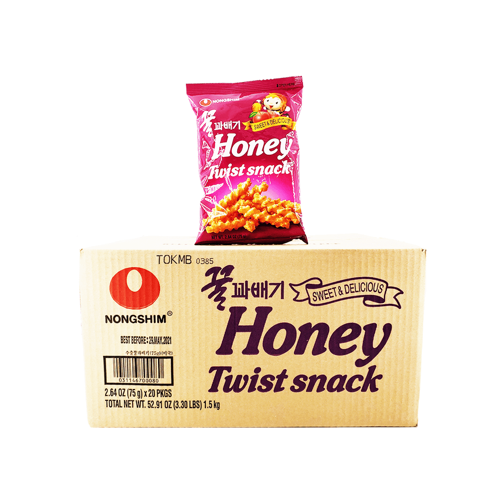 Nongshim Honey Twist Snack Small Size 1 Case (20bags) 52.91oz