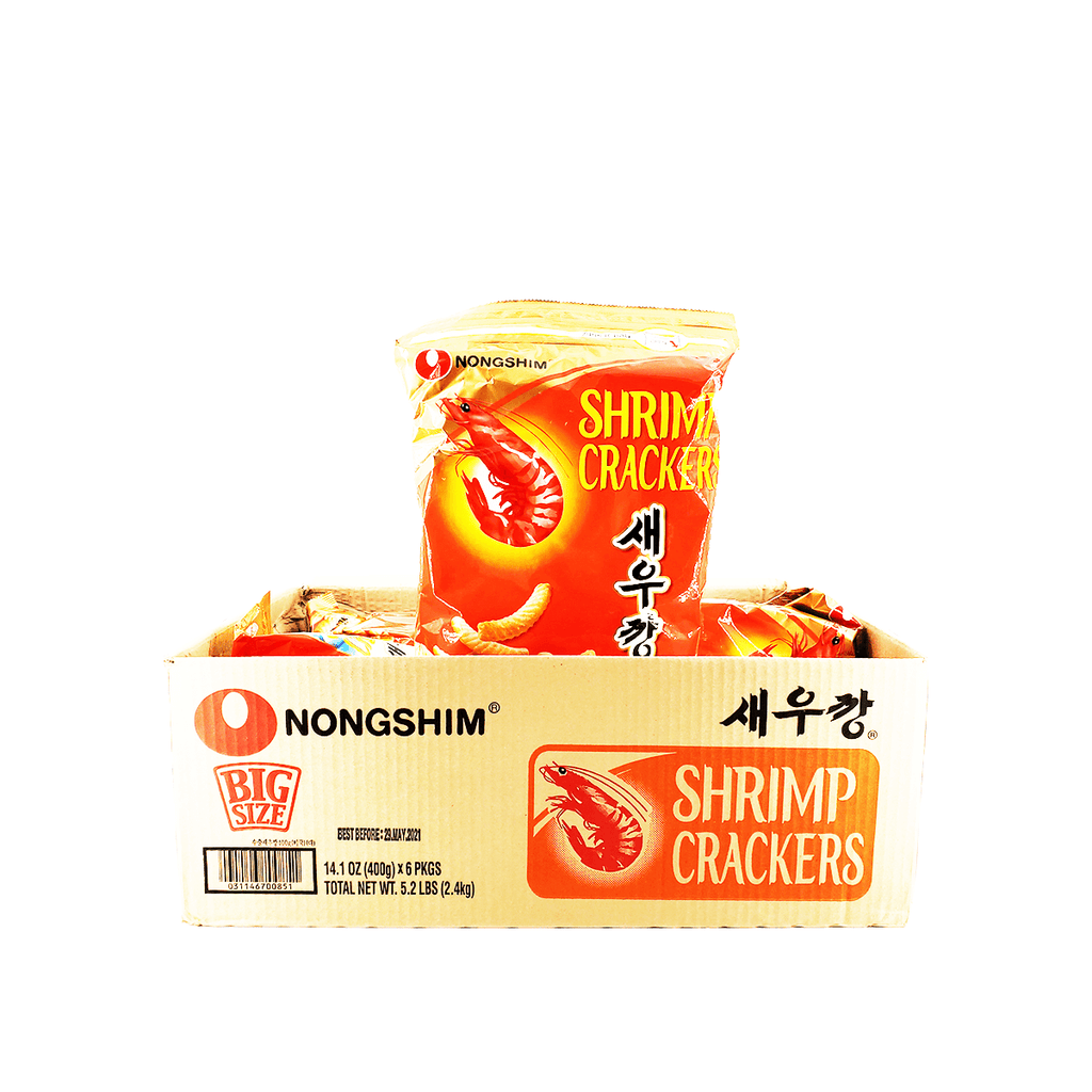 Nongshim Shrimp Crackers Big Size 1 Case (6 bags) 5.2Lbs