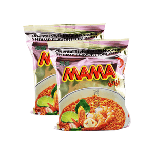 Mama Oriental Style Instant Noodles Shrimp Flavor (Tom Yum) Single pack Twins 4.24oz
