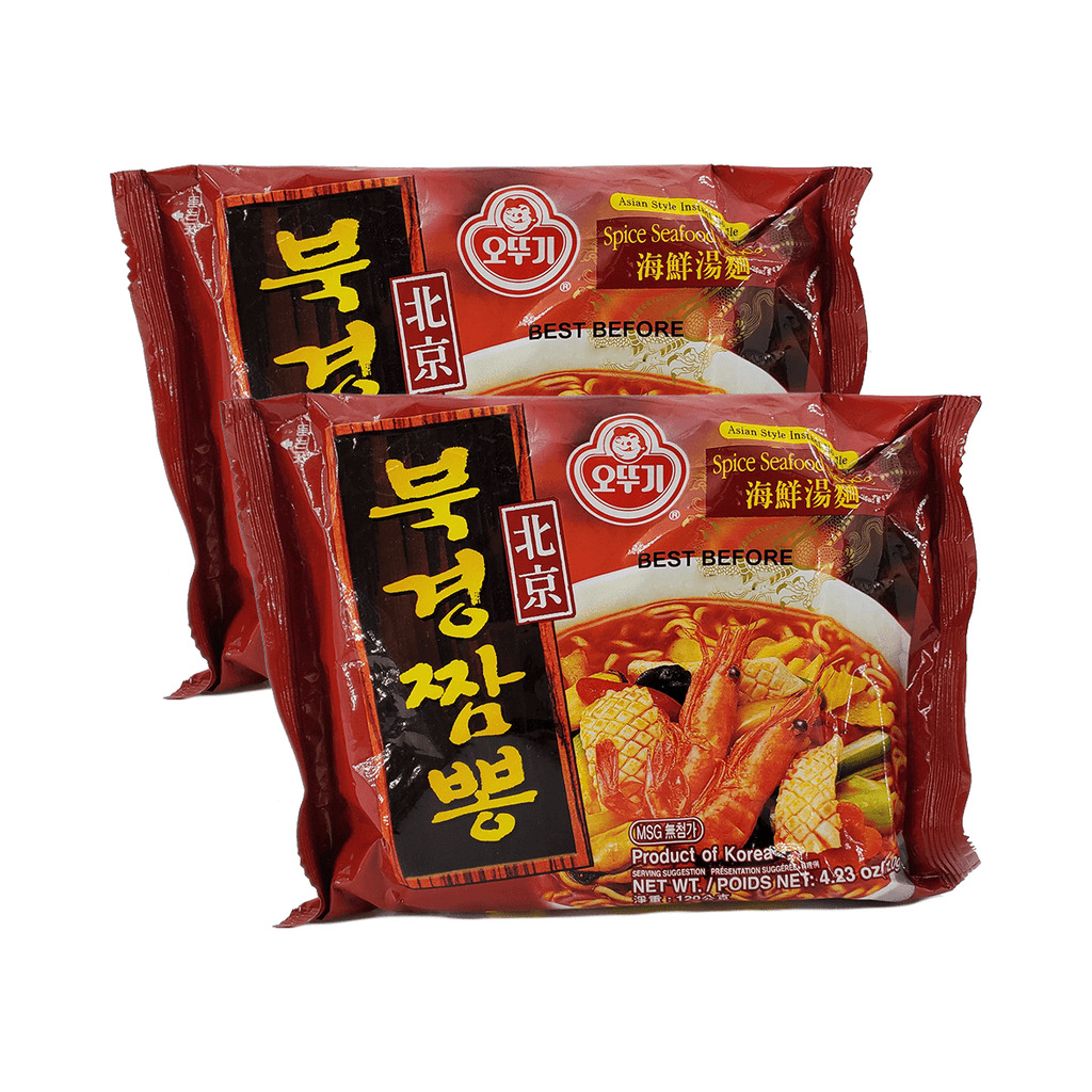 Ottogi Beijing Spicy Seafood Noodle Single pack Twins 8.46oz
