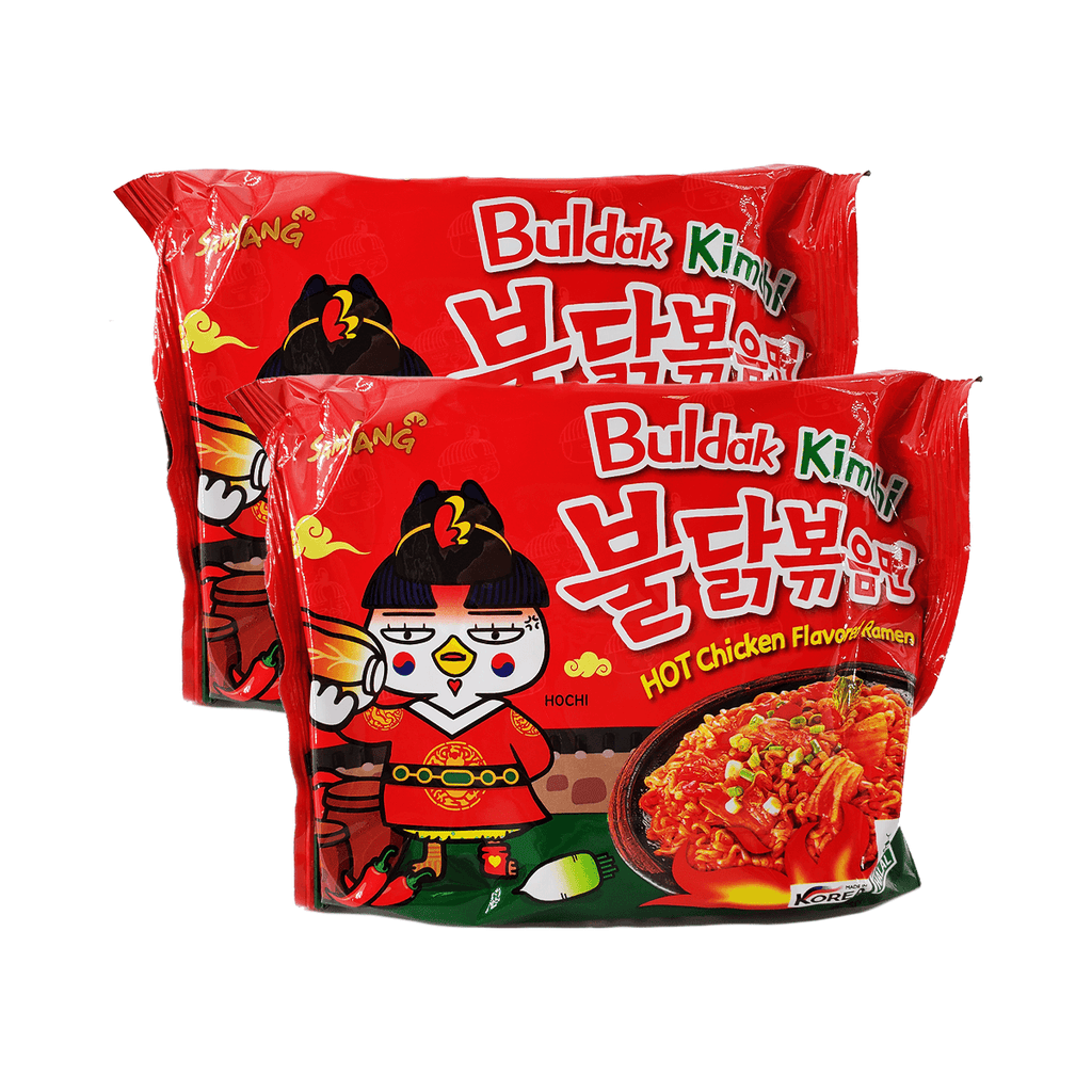 Samyang Buldak Kimchi Hot Chicken Flavored Ramen Single pack Twins 9.52oz