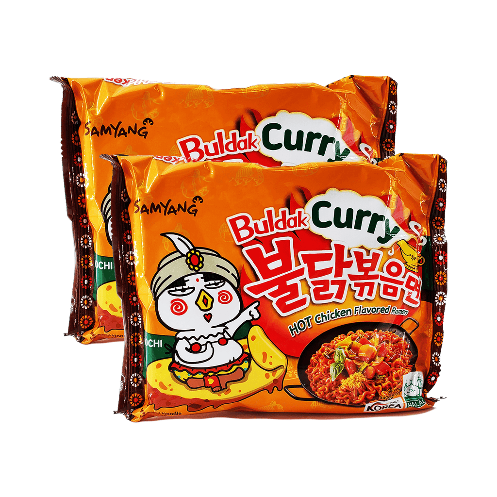 Samyang Buldak Curry Hot Chicken Flavored Ramen Single pack Twins 9.88oz