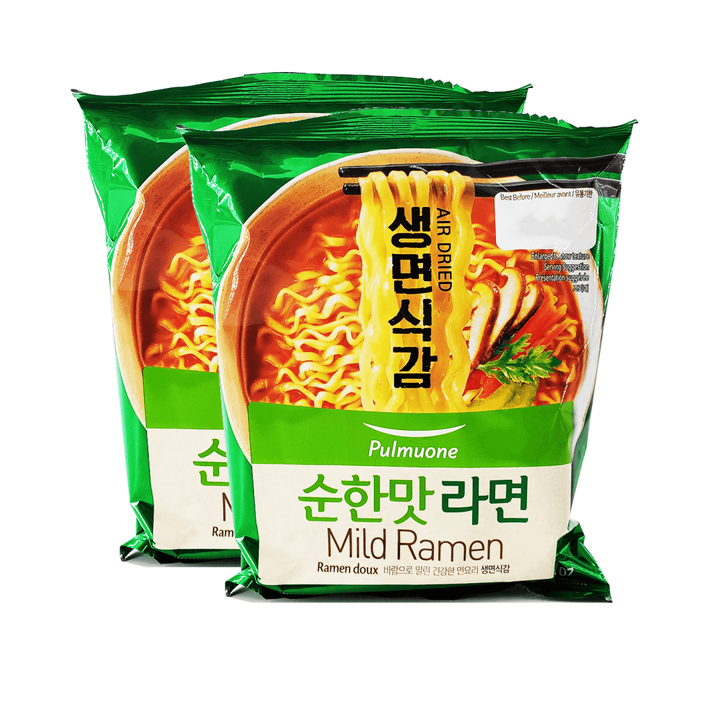Pulmuone Air Dried Mild Ramen Single pack Twins 6.8oz