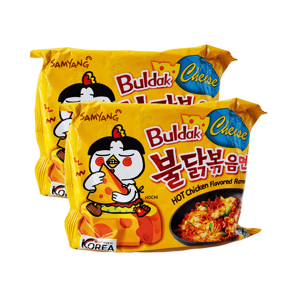 Samyang Cheese Buldak Hot Chicken Flavor Ramen Single pack Twins 9.88oz