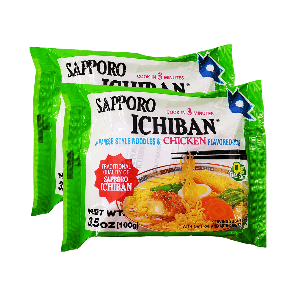Sapporo Ichiban Japanese Style Noodles & Chicken Flavour Single pack Twins 7.0oz