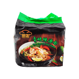 Red Chef Green Tom Yum Soup Noodles Family pack (4 single packs) 440g
