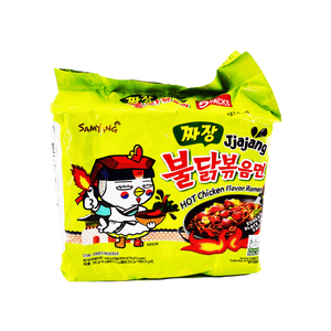 Samyang Buldak Jjajang Family pack  1 Case (8 single packs) 197.53oz