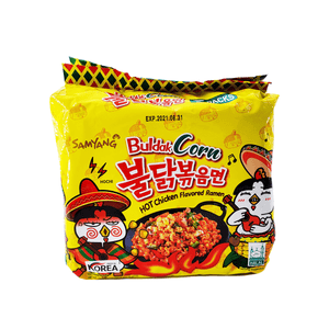 Samyang Buldak Corn Hot Chicken Flavored Ramen Family pack 22.95oz