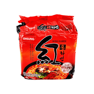 Ohsung Hong Ramen Hot & Spciy Family pack 21oz