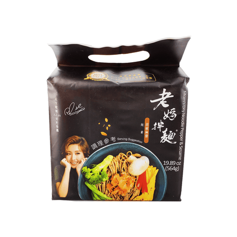 Mom's Dry Noodle Pepper & Sesame Family pack 18.9oz